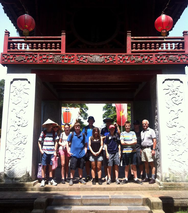 The Temple of Literature. Established as Vietnam's first university in 1076. #HaNoi #VietnamSchoolTours #TempleOfLiterature