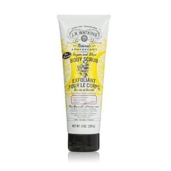 J.R. Watkins Body Scrub 100 Percent Natural Exfoliating Sugar and Shea Lemon 8 oz