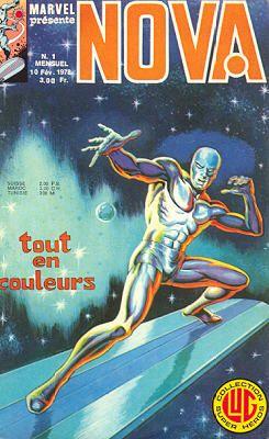 Nova n°1 des éditions Lug avec le Surfer d'Argent, Nova et Spider-Man