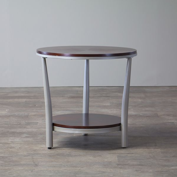 Halo Wood and Metal Contemporary End Table Regular - Overstock Shopping - Great Deals on Baxton Studio Coffee, Sofa & End Tables