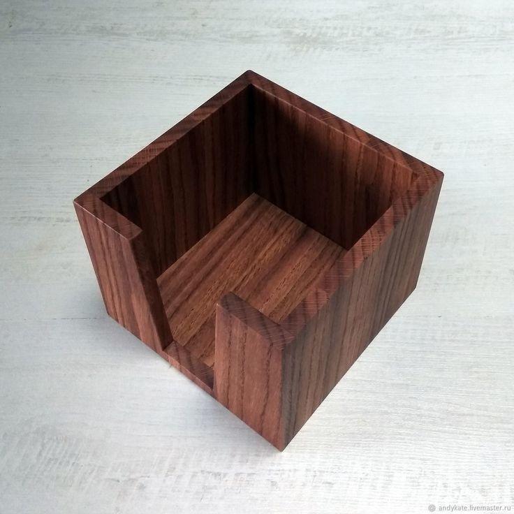 Салфетница из дуба (145х145х110мм) – купить в интернет-магазине на Ярмарке Мастеров с доставкой