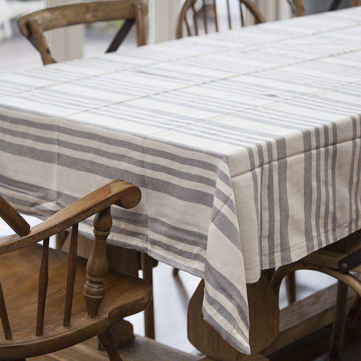 #black #stripe #tablecloth #r&H