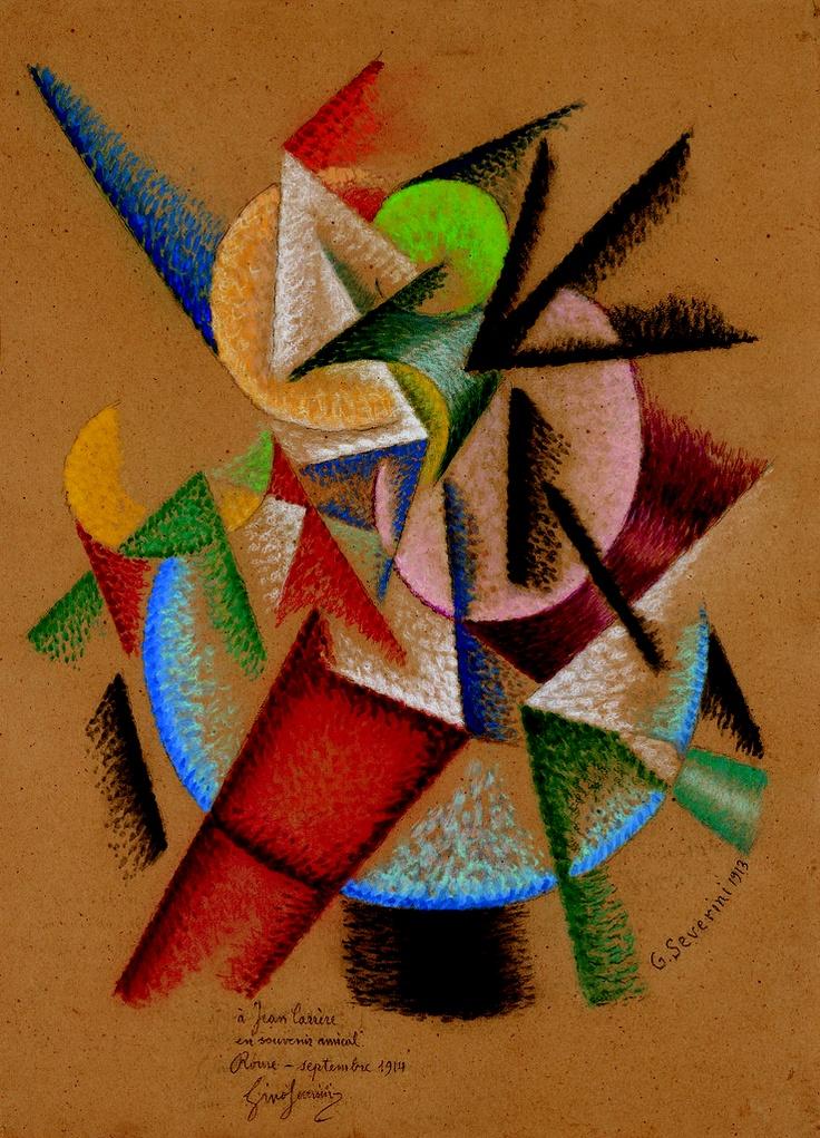 Gino Severini. Mare = Ballerina (Sea = dancer). 1913. Gino Severini was an Italian painter and a leading member of the Futurist movement.