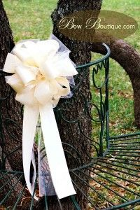 How To Make Pew Bows For Wedding