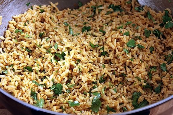 SIDE - Cilantro Lime Basmati Brown Rice -- A healthy, vegetarian side for a Mexican meal ~Was delish! Could only find white basmati at store, but was delicious nonetheless!