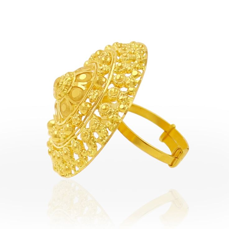 Gold Rings Online: Buy Adjustable Stunning Design Gold Ring of ...