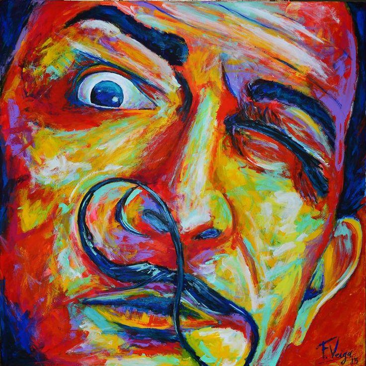 """""""Dalí"""" por Federico Veiga 1 x 1 mt"""