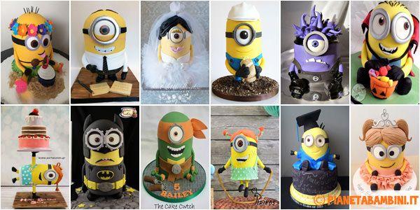 Foto delle 99 più belle torte dei Minions con decorazioni in pasta di zucchero (PDZ) per feste e compleanni di chi ama questi simpatici personaggi