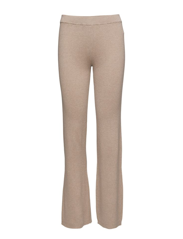DAY - 2ND Sofie Ribbed fabric Relaxed fit Straight cut Excellent quality and fit Feminine Simple Made from a high quality wool blend. Pants Trousers