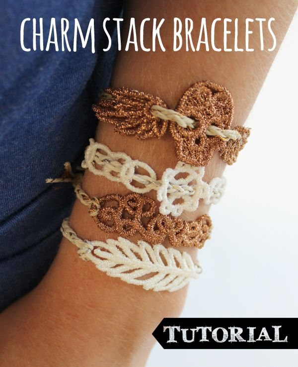Tutorials | Urban Threads: Make your own charm stack bracelets with your embroidery machine!