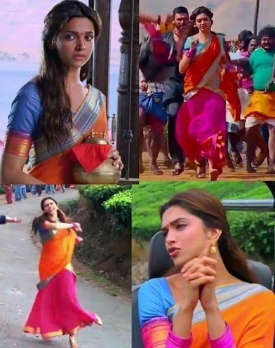 Deepikas Vibrant Sarees in Chennai Express