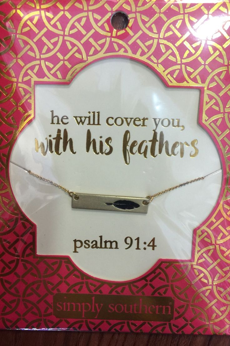 Psalm 91:4 Simply Southern Necklace from Chocolate Shoe Boutique