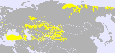 Spread of Turkic languages across Eurasia