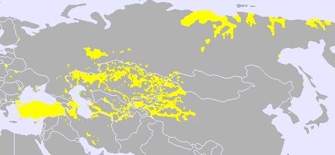 Spread of Turkic languages across Eurasia