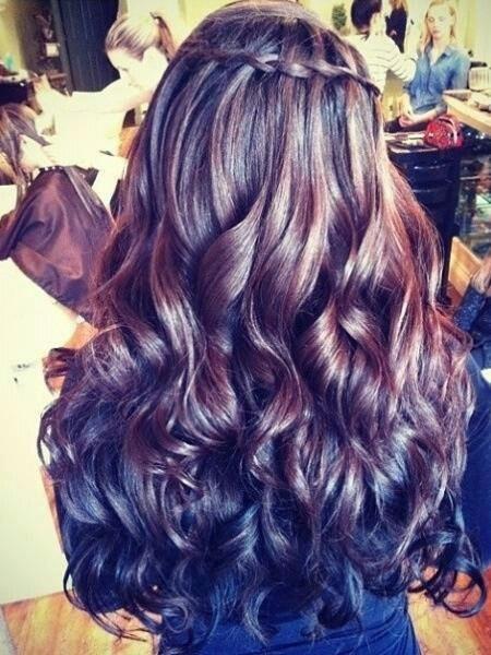 waterfall braid into curls