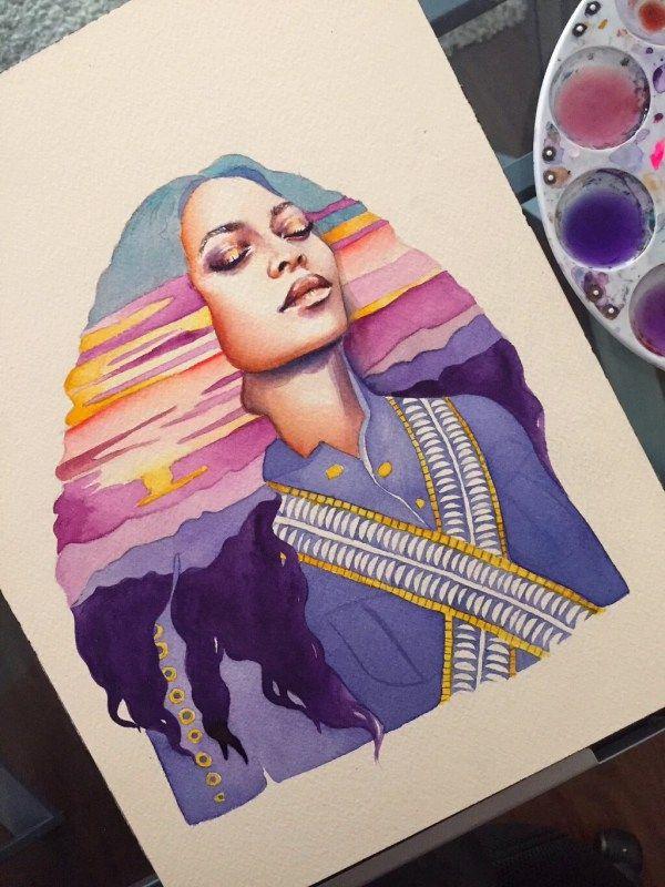 Beyonce Illustration Artist: Stella Blu http://bystellablu.com/