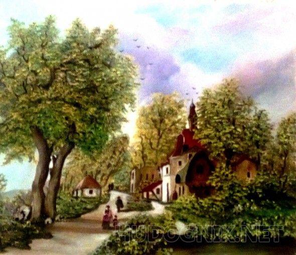 Голландский пейзаж Приближенная копия