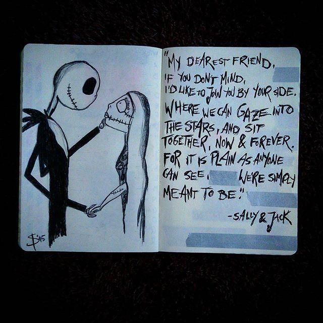 #mulpix ☆Jack Skellington & Sally drawing ☆  #nightmarebeforechristmas  #jackskellington  #sally  #timburton  #fantasy  #drawing  #graphite  #kohinoor  #creativespace  #draw  #hooray  #sketchbook  #instaart  #sketch  #sketching  #artwork  #black  #art  #poem  #love