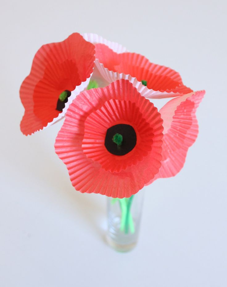 Cupcake-Liner Poppy Bouquet | CBC Parents