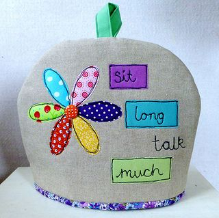 Tea cosy (pattern available by Just Jude Designs, Etsy)