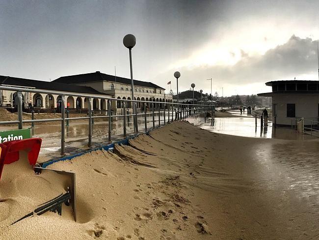 The sand build up has transformed coastal walkways.