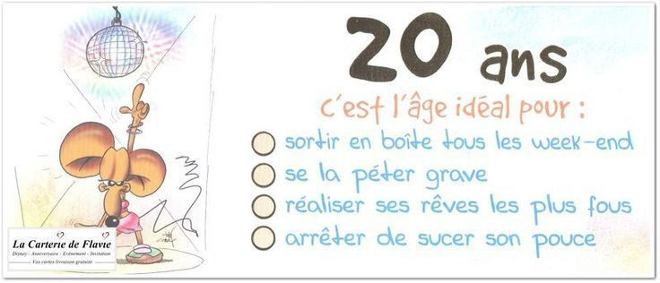 Texte Dinvitation Anniversaire Humoristique 20 Ans Fresh 17