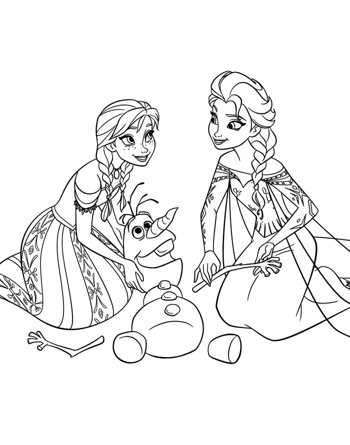 This Anna And Elsa Rearranging The Snowy Parts Of Olaf's Body Frozen Colouring Pages is aimed at younger kids, with its name written underneath the picture. Description from kidscolouring.co.uk. I searched for this on bing.com/images