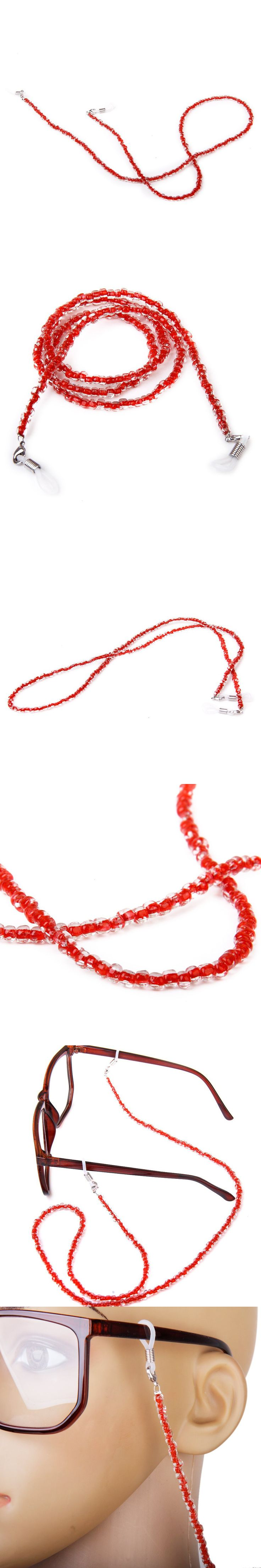 IMC Eyeglasses/Sunglasses Bead Chain Holder Neck Cord 65CM - Red $1.64