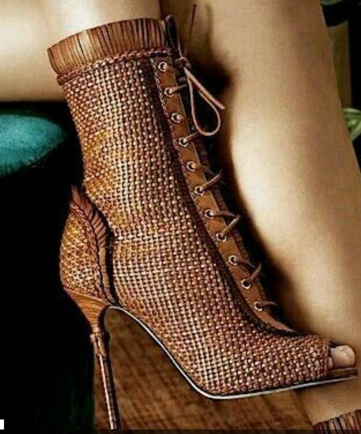 83a8640dac4 Just lobe these weave pattern booties. Find this Pin and more on The Sexiest  Boots ...