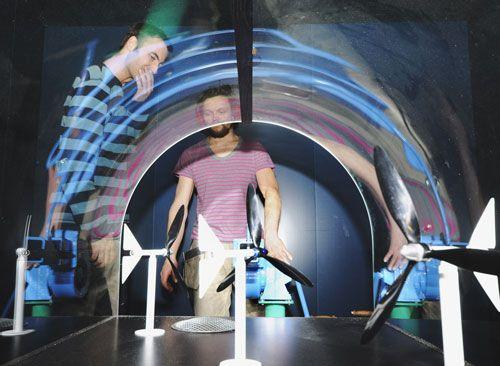 Spennende utstillinger for både store og små. Her fra EnergiTivoli i Vitensenteret.