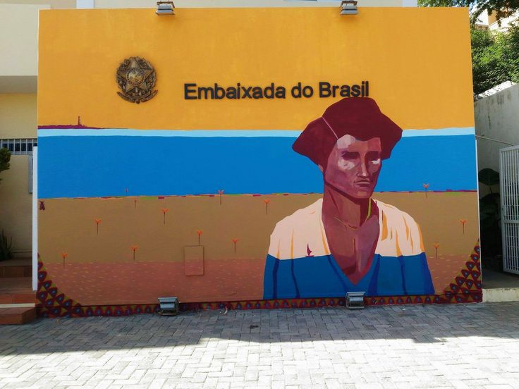 embaixada do brasil, mural