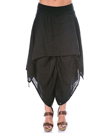 Look at this #zulilyfind! Black Linen Harem Pants #zulilyfinds