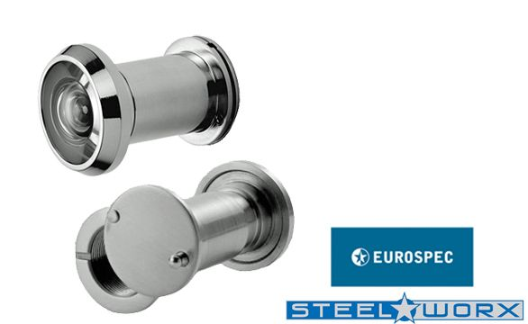 200 DEGREE DOOR VIEWERS, POLISHED STAINLESS STEEL, SATIN STAINLESS STEEL OR PVD STAINLESS BRASS - SWE1010 New