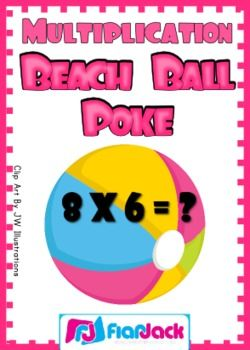 Get ready for summer with this Beach Ball Poke game that will help students practice and master multiplication facts 1-12. This game is self-checki...