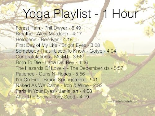 One Hour Yoga Playlist