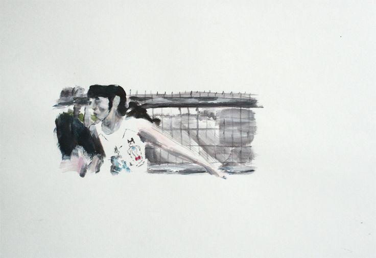 """De la serie """"Relaciones Secretas"""" acrílico sobre Cartón, 30 x 40 cm"""