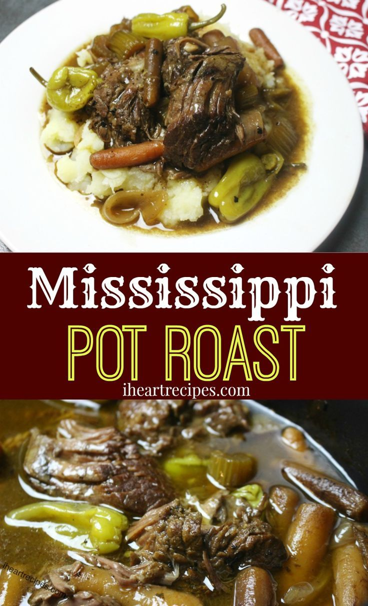 Tender beef chuck roast seasoned to perfection, and slow cooked for 8 hours. Over the past couple years I've shared a few pot toast recipes. Some of the pot roast recipes that I've shared have been made in the oven, some in the slow cooker. Since most of you have been asking for more slow cooker recipes, I decided to make & share my Best Mississippi Pot Roast recipe made in the Crock-Pot. This Mississippi pot roast is simply beef chuck roast seasoned with ranch seasoning, ground c...