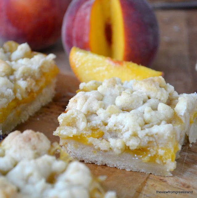 Jack Daniel's Peach #Pie Bars recipe with whiskey glaze
