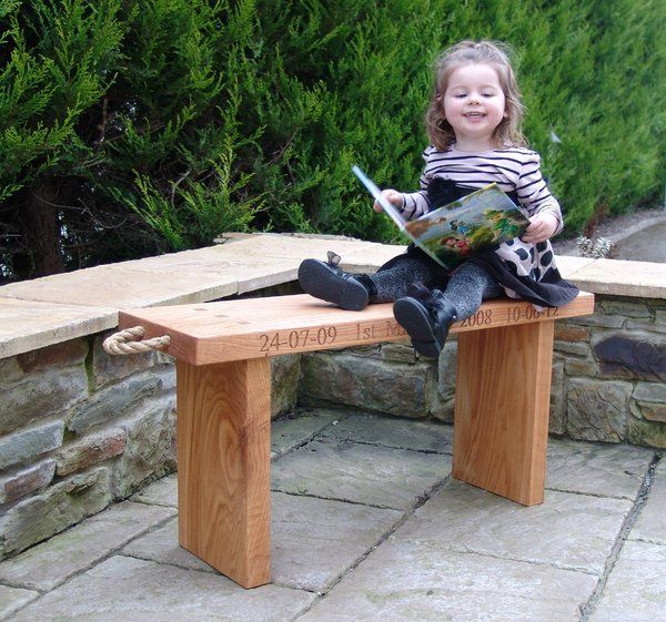 Irish oak benches, simple yet elegant and can be used inside or outside. made in solid oak with natural manila rope handles.
