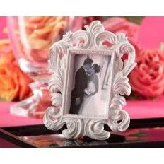 """White Baroque "" Elegant Place Card HolderPhoto Frame"