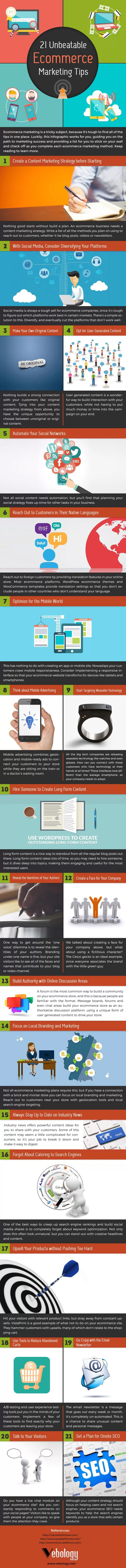 21 Unbeatable #Ecommerce #Marketing Tips to Generate More Online Sales #Infographic