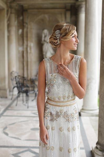 Inspiración: novia estilo años 20. Me fascina!!                                                                                                                                                                                 Más