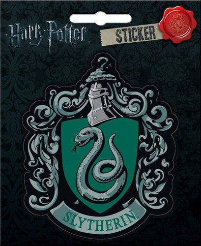 """The Harry Potter Slytherin Crest Bumper Sticker Decal and it's awesome! Measuring approximately 4"""" x 3"""" and it's die-cut. - Harry Potter Slytherin Crest Bumper Sticker Decal - Die-cut measuring 4""""x3"""""""