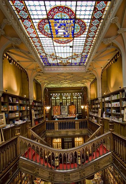 Livraria Lello - Porto, Portugal by D. Sensi