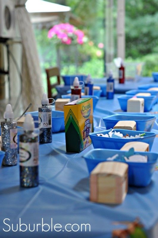 It's Pirate Party Week! Pirate Party Activity: Put out dollar store wooden treasure chests along with individual bowls of decorations.