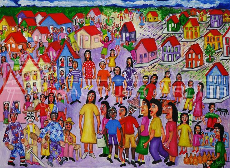 Antonio de Olinda - Festa colorida - 80x110