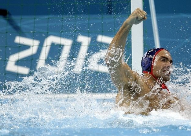 """Huzzah,"" the U.S. men's water polo team says. ""Montenegro? More like Monteneg-NO."""