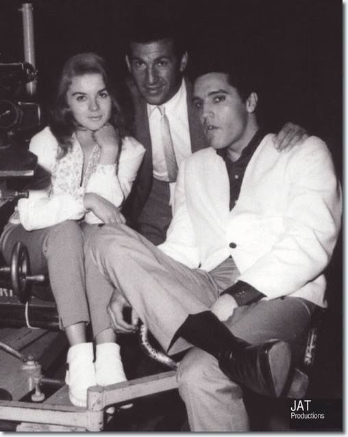 "Elvis Presley and Ann-Margret on the set from the ""Viva Las Vegas"" Hardcover Book"