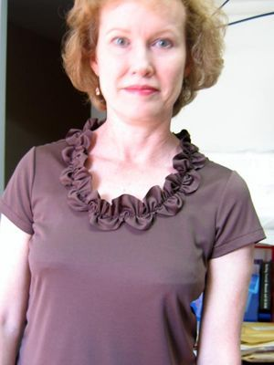 CRAFTIVISION: Shirt Necklines - From Classic to OTT & Super Pretty  - LOVE the neckline shown here! (CraftVision is a Blog that is run by Jodi of Jocole! - It's Awesome!! - Check Sewing Blog Pin for add. info on this Blog)