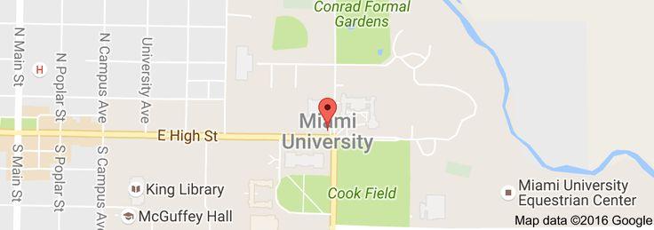 Map of Miami University